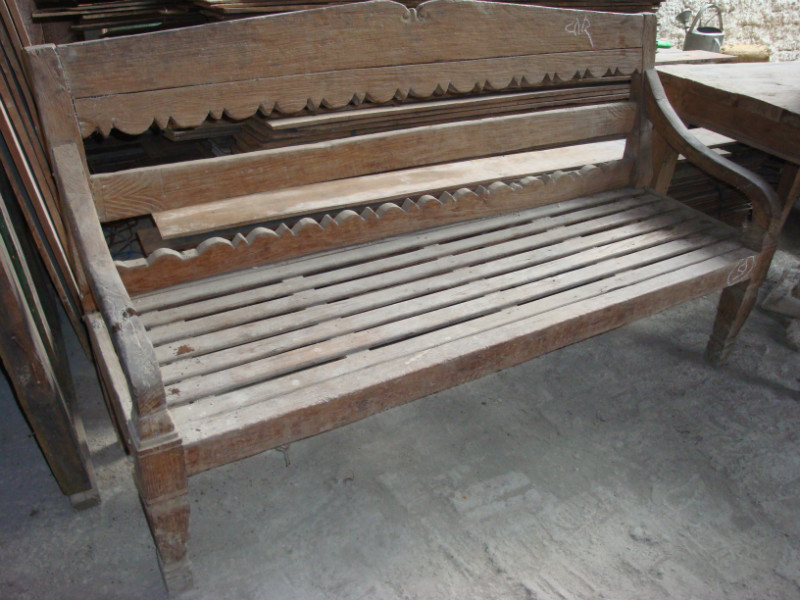 Antieke Teak Tuinbank.Stations Bank Teak Tuinbanken Teak Collection Antiek Koloniaal