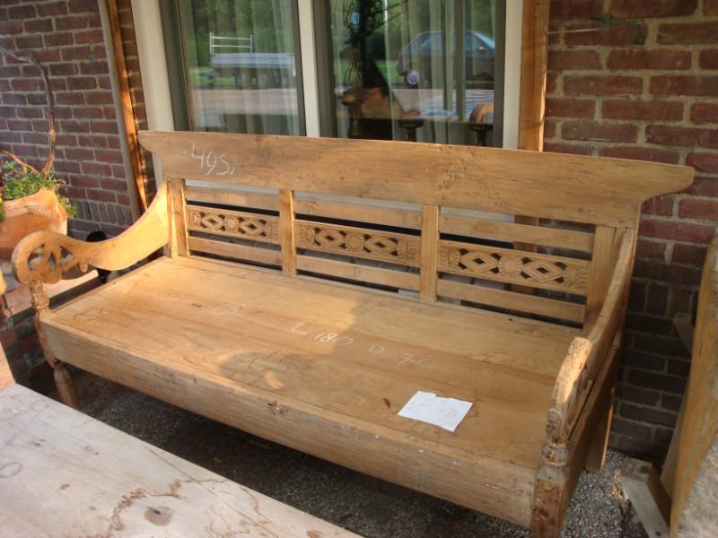 Loungebank tuinbank lounge set op maat hout nieuw tuin met